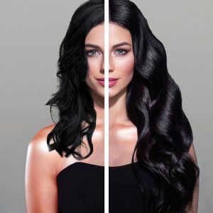 Antes/después extensiones Vanityhair cabello moreno