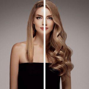 Antes/después extensiones Vanityhair cabello rubio