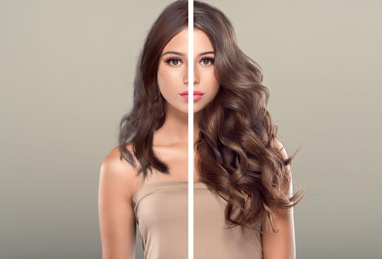 Extensiones Vanityhair: Antes y depués (castaño)
